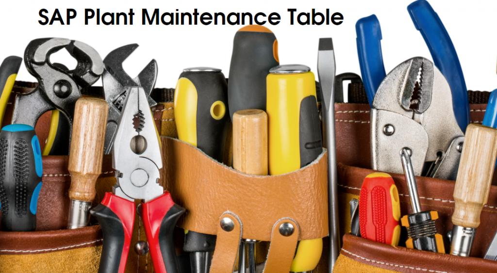 SAP Plant Maintenance Tables