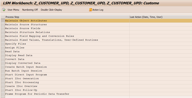 how to create lsmw in sap with screenshots
