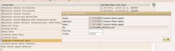 LSMW Convert data
