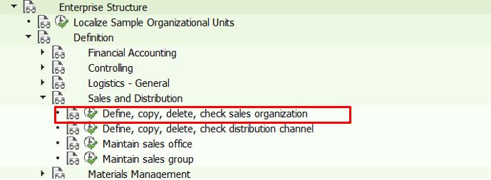 Define sales organization in sap sd